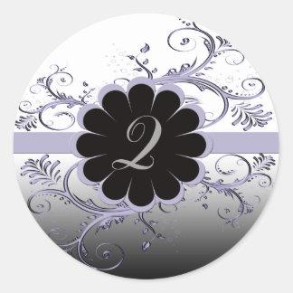 Monogram Letter Q Violet Classic Round Sticker