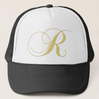 Monogram Letter R Golden Single Trucker Hat