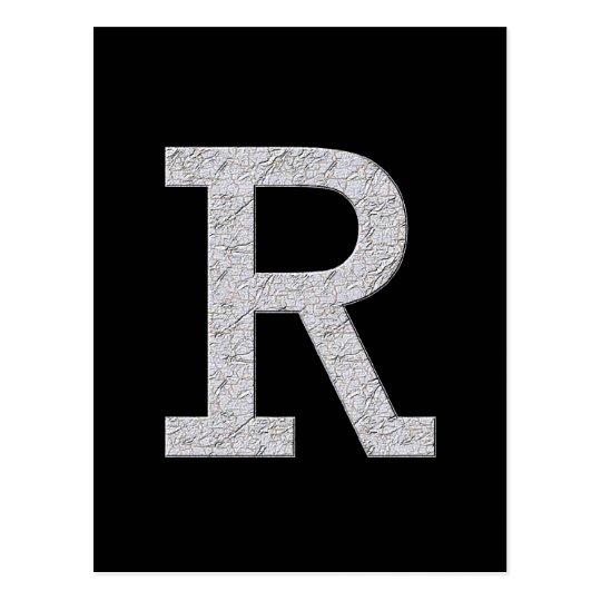 Monogram Letter R Postcard