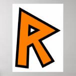Monogram Letter R Print