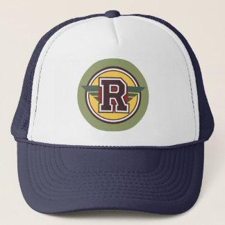 """Monogram Letter """"R"""" Trucker Hat"""