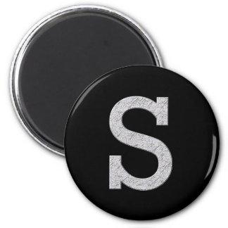 Monogram Letter S Magnet