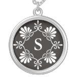 Monogram Letter S Pendant Necklace