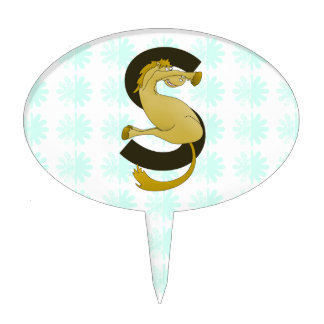 Monogram Cake Toppers Letter S : Letter Cake Toppers Zazzle