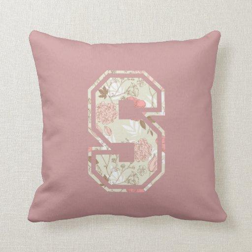 Monogram Letter S Throw Pillow Zazzle