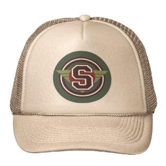 """Monogram Letter """"S"""" Trucker Hat"""