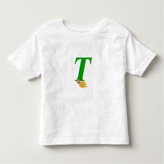 Monogram letter T brian the snail toddler t-shirt