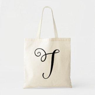 "Monogram Letter ""T"" Budget Tote-Canvas Tote Bag"