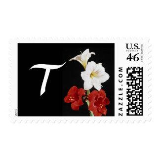 Monogram Letter T Postage