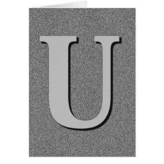 Monogram Letter U Card