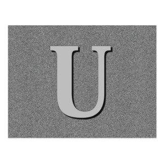 Monogram Letter U Postcard
