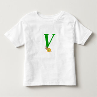Monogram letter V brian the snail toddler t-shirt