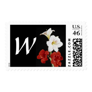 Monogram Letter W Postage Stamp