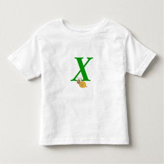 Monogram letter X brian the snail toddler t-shirt