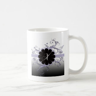 Monogram Letter X Violet Coffee Mug