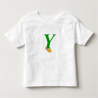 Monogram letter Y brian the snail toddler t-shirt