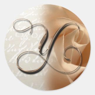 Monogram Letter Y Wedding Envelope Seal Classic Round Sticker