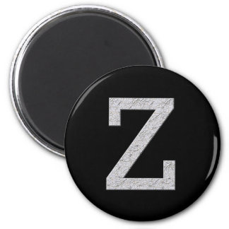 Monogram Letter Z 2 Inch Round Magnet