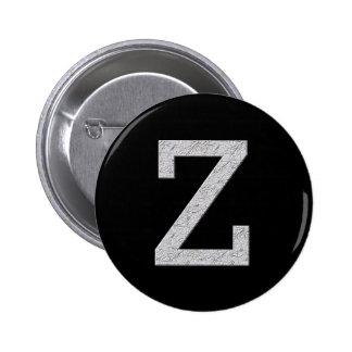 Monogram Letter Z 2 Inch Round Button