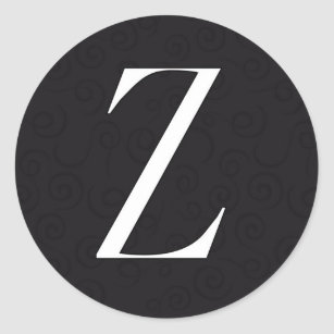 Letter Z Stickers Sticker Designs Zazzle