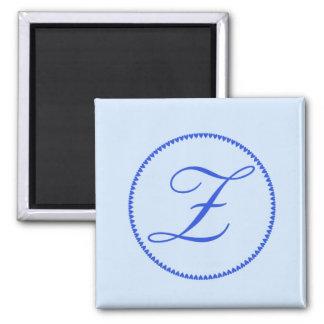Monogram letter Z fridge magnet
