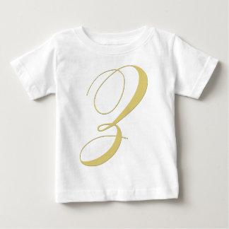 Monogram Letter Z Golden Single T Shirt