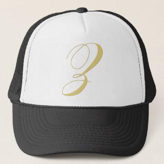 Monogram Letter Z Golden Single Trucker Hat