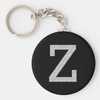 Monogram Letter Z Keychain