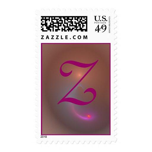 Monogram Letter Z Postage Stamp