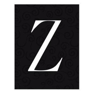 Monogram Letter Z Postcard