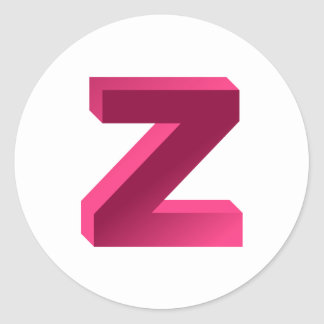 Monogram Letter Z Stickers