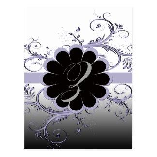 Monogram Letter Z Violet Postcard