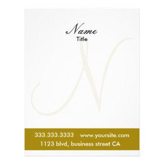 monogram letterheads personalized letterhead
