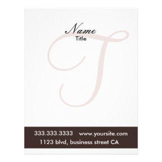 monogram letterheads letterhead design