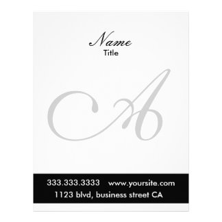 monogram letterheads customized letterhead