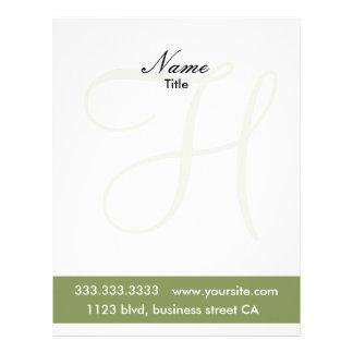 monogram letterheads customized letterhead