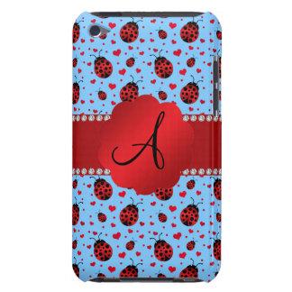 Monogram light blue ladybugs hearts iPod Case-Mate cases