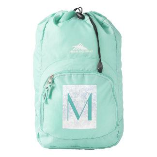 Monogram Light Floral Texture Background Template Backpack
