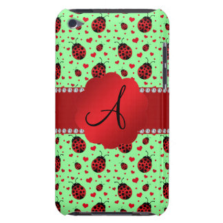 Monogram light green ladybugs hearts iPod touch cases