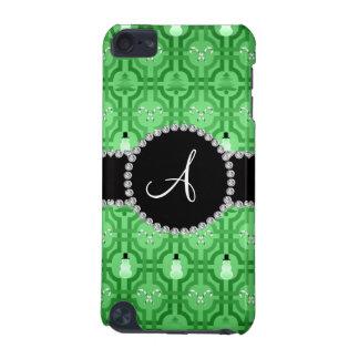 Monogram light green snowman trellis pattern iPod touch (5th generation) cases