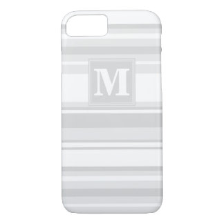 Monogram light grey stripes iPhone 8/7 case