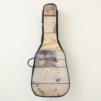 Monogram. Light Wood Panel. Guitar Case