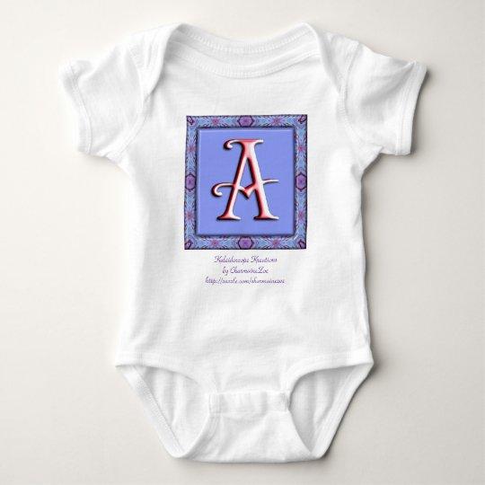 Monogram: Lilac : A Baby Bodysuit