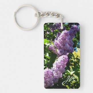 Monogram lilac Key chain