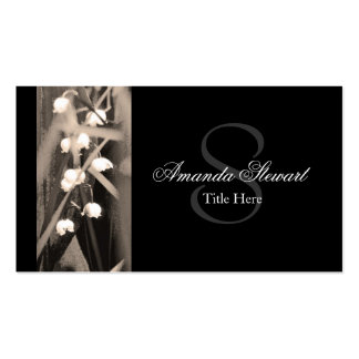 Monogram Lily of The Valley Elegant Business Card
