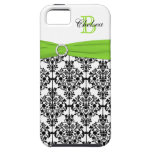 Monogram Lime Black White Damask iPhone 5 Vibe iPhone 5 Covers