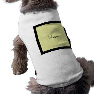 Monogram Linen & Black Border Pet Tee Shirt