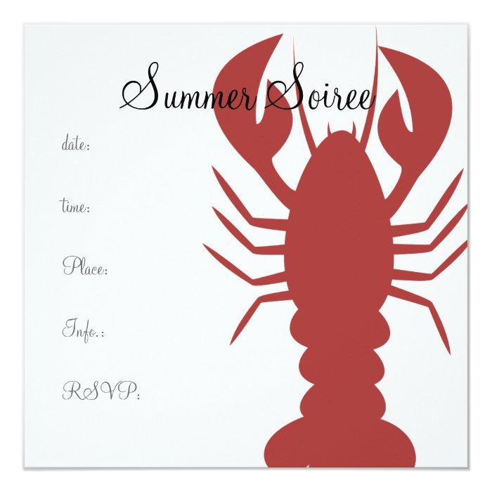 Monogram Lobster Card