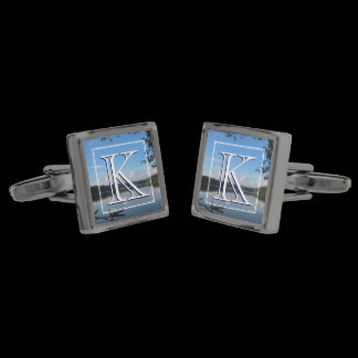 Monogram Loch Raven Reservoir Custom Nature Cufflinks