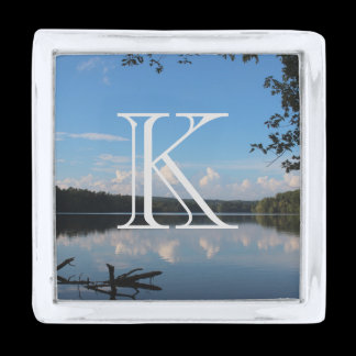 Monogram Loch Raven Reservoir Custom Silver Finish Lapel Pin